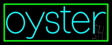 Oysters Turquoise 1 LED Neon Sign