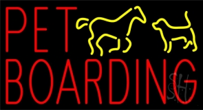 Pet Boarding 1 Neon Sign