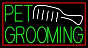 Pet Grooming Block Neon Sign
