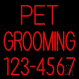 Pet Grooming With Phone Number LED Neon Sign