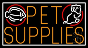 Pet Supplies Neon Sign