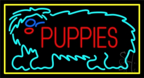 Puppies Block Neon Sign