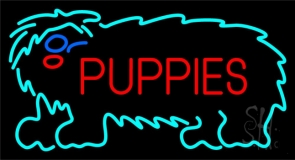 Puppies Block 1 Neon Sign