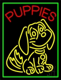 Puppies Logo Neon Sign