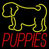 Puppies With Logo 1 Neon Sign