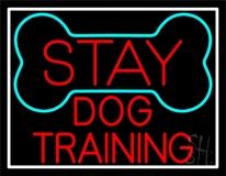 Red Dog Training Block Neon Sign
