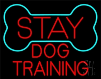 Red Dog Training Block 1 Neon Sign