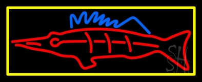 Red Fish Neon Sign