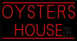 Red Oyster House Neon Sign