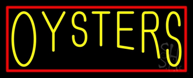 Red Oysters Block 1 LED Neon Sign
