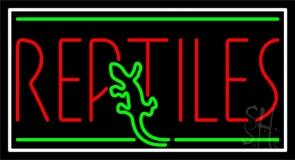 Red Reptiles Block 1 Neon Sign