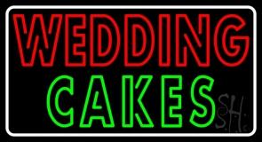 Wedding Cakes Double Stroke Neon Sign