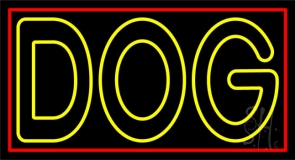 Yellow Dog 1 Neon Sign