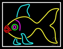 Yellow Fish Neon Sign