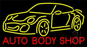Blue Auto Body Shop 1 Neon Sign