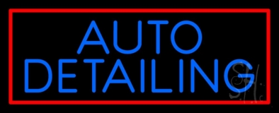 Auto Detailing Red Border Neon Sign