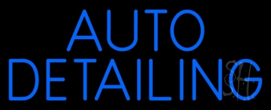 Auto Detailing Blue LED Neon Sign