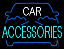 Blue Car Accessories 1 Neon Sign