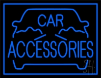Blue Car Accessories Neon Sign