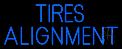 Blue Tires Alignment Neon Sign
