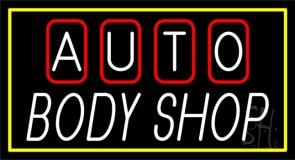 Double Stroke Auto Body Shop 1 Neon Sign