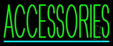 Accessories Turquoise Lines Neon Sign