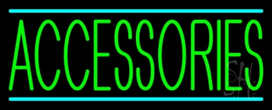 Green Accessories Turquoise Lines Neon Sign