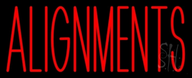 Red Alignments Neon Sign