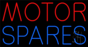 Red Motor Blue Spares 1 Neon Sign