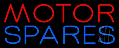 Red Motor Blue Spares 2 Neon Sign
