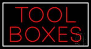 Red Tool Boxes Neon Sign