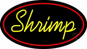 Shrimp Cursive 2 Neon Sign