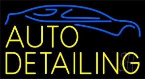 Yellow Auto Detailing 1 LED Neon Sign