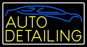 Yellow Auto Detailing LED Neon Sign