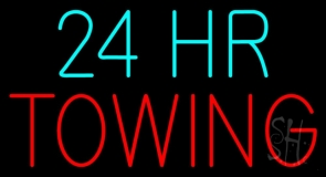 24 Hour Towing Neon Sign