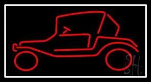 Auto Car Logo White Border Neon Sign
