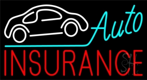 Auto Insurance Car Logo Neon Sign