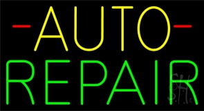 Yellow Auto Green Repair Block LED Neon Sign
