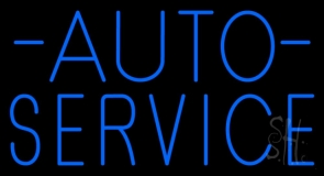 Auto Service Block LED Neon Sign