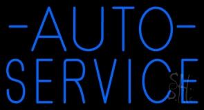 Auto Service Block Neon Sign