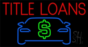 Auto Red Title Loans Car Logo Neon Sign