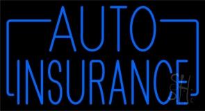 Blue Auto Insurance Neon Sign