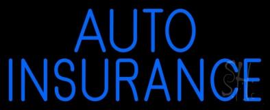 Blue Auto Insurance LED Neon Sign
