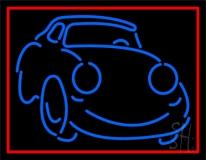 Blue Car Logo 1 Neon Sign