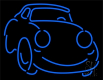Blue Car Logo Neon Sign