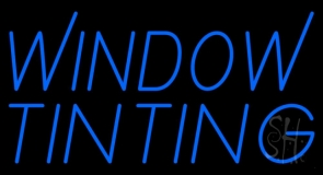 Blue Window Tinting 1 Neon Sign