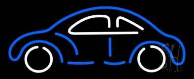 Blue And White Car Logo Neon Sign