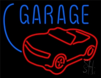 Car Logo Garage Block Neon Sign