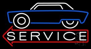 Car Logo Service Neon Sign