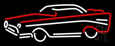 Red And White Car Logo Neon Sign